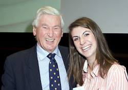 Sir William Francis and EEESTA Award Winner, Alexis Storey