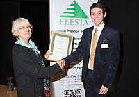 Maxwell Munford receives his EEESTA Innovation Award