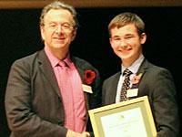 Owen Pearce receives EEESTA Innovation Award from Malcolm Grimston